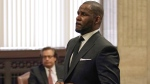 In this Friday, March 22, 2019 file photo, R. Kelly appears for a hearing at the Leighton Criminal Court Building in Chicago, Illinois. (E. Jason Wambsgans/Chicago Tribune via AP, Pool, File)