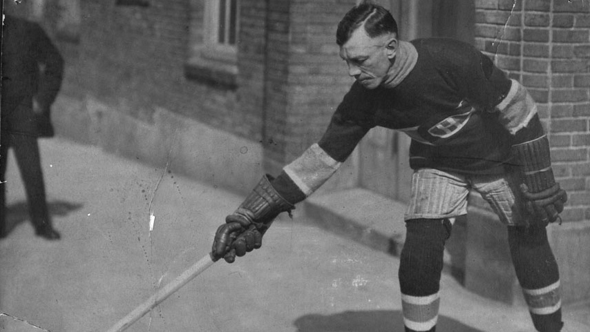 Joe Hall was a hard-nosed defenceman for the 1918-19 Montreal Canadiens. He died of complications from influenza shortly after that year's Stanley Cup championship series was called off partway through. (Library and Archives Canada)