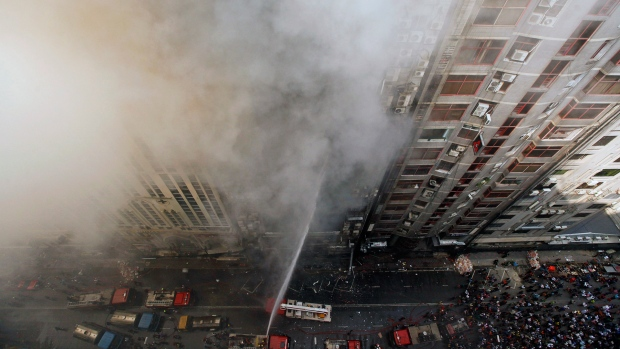 img Office building catches fire in Bangladesh