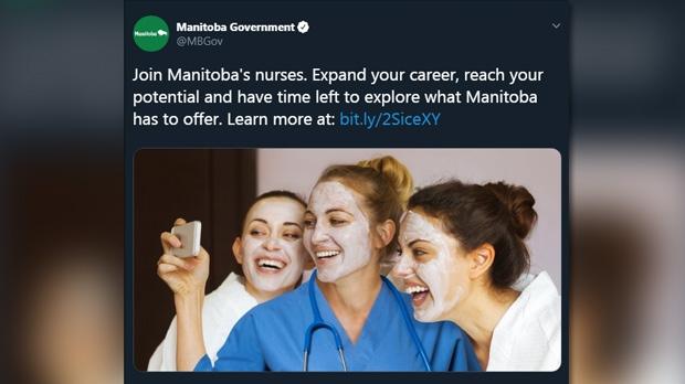 Province removes nurse recruitment image described by union