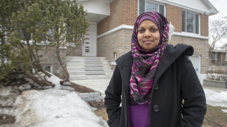 Furheen Ahmed, a teacher at a local high school, is seen at her home Thursday, March 28, 2019 in Montreal. THE CANADIAN PRESS/Ryan Remiorz