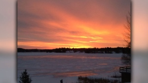 Early Morning Brilliance on Laurenson Lake - Kenora. Photo by Doreen Toth