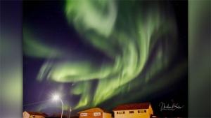 Northern lights, photo by Marlene Blake