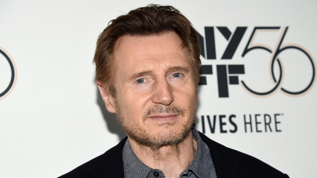 """FILE - This Oct. 4, 2018 file photo shows actor Liam Neeson at the premiere for """"The Ballad of Buster Scruggs"""" during the 56th New York Film Festival in New York. Neeson is again apologizing for revealing that he wanted to kill a random black person nearly 40 years ago after a close friend had been raped by a black man. (Photo by Evan Agostini/Invision/AP, File)"""