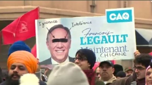 People opposed to Bill 21 rally in Montreal