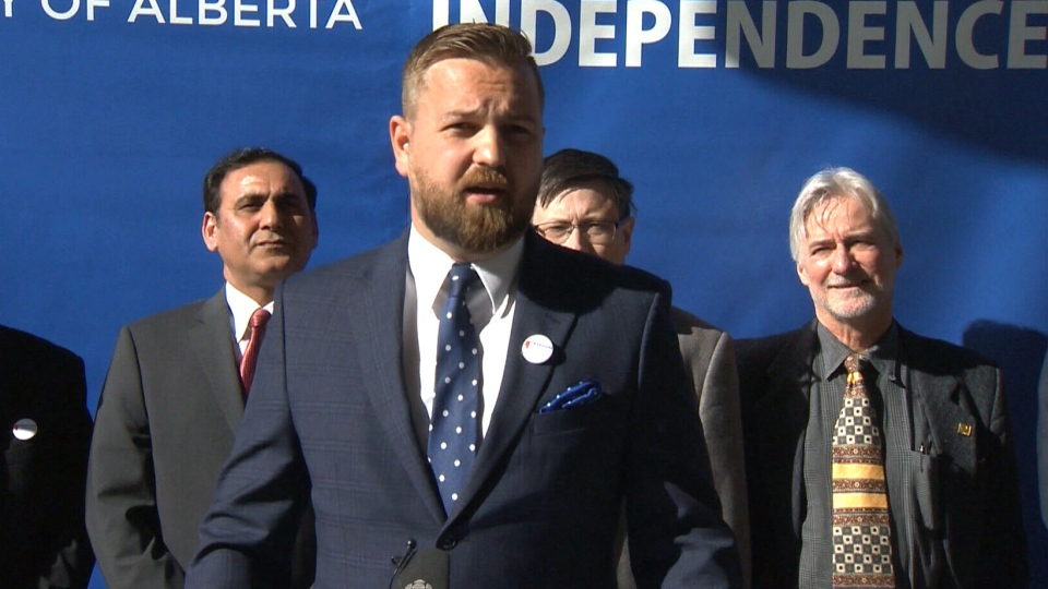 Freedom Conservative Party of Alberta Leader Derek Fildebrandt on the campaign trail, Saturday, March 30, 2019.