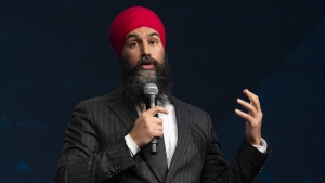 NDP leader Jagmeet Singh speaks at the Broadbent Summit in Ottawa, Friday March 29, 2019. THE CANADIAN PRESS/Adrian Wyld