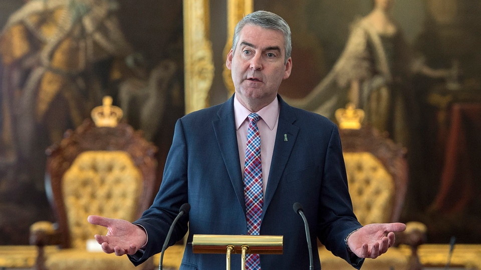 Premier Stephen McNeil attends a bill briefing at the legislature in Halifax on Tuesday, April 2, 2019. (THE CANADIAN PRESS/Andrew Vaughan)