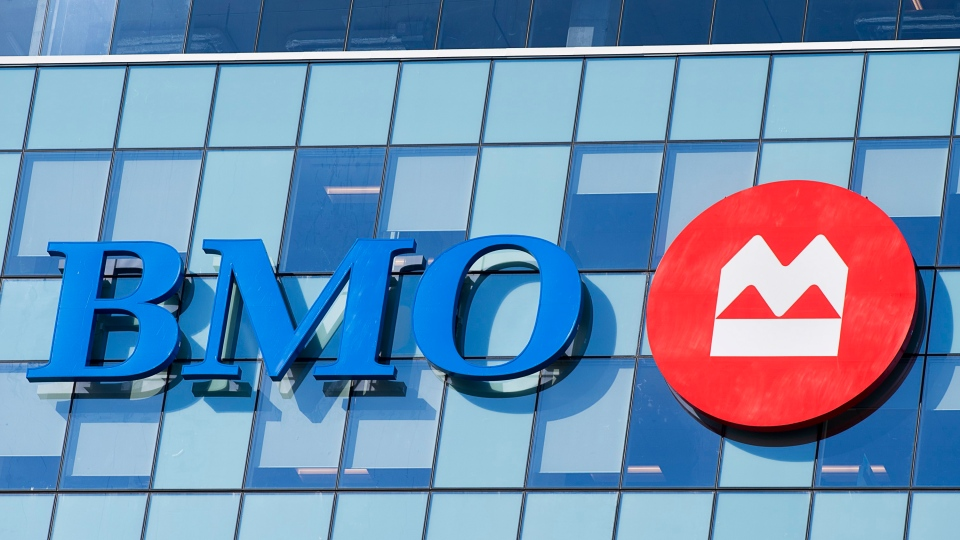 The BMO Bank of Montreal logo is seen on the BMO Nova Centre, housing their Atlantic Canadian headquarters and support services, in Halifax on Tuesday, April 2, 2019. THE CANADIAN PRESS/Andrew Vaughan