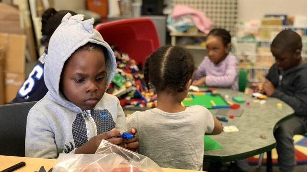 At Kings Park Child Care in Fort Richmond, the funding cap has created challenges around finding and retaining staff. (Jon Hendricks/CTV News.)