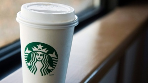 A Starbucks cup is seen in Halifax on Tuesday, March 8, 2011.  (THE CANADIAN PRESS/Andrew Vaughan)