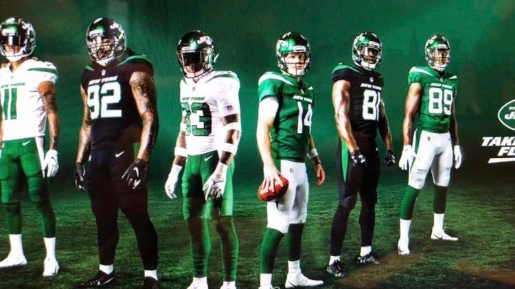 Social media users say these leaked New York Jets jerseys closely resemble Rider green (Twitter: The Jet Take)