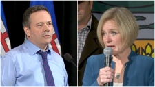 Rachel Notley Jason Kenney, election, poll