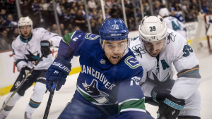 "The Vancouver Canucks played their final home game of the season Tuesday, leaving fans with some burning questions: Can Brock Boeser net 40 or more goals? Will Bo Horvat finally get a ""C"" on his jersey? Who will be the next starting goalie, Jacob Markstrom or Thatcher Demko? (Photographer: Anil Sharma)"
