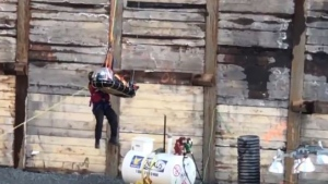 Man pulled from downtown construction site (CJAD/Shuyee Lee)