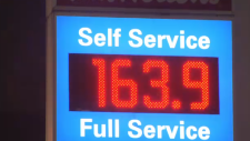 Gas prices are seen at a record-breaking 163.9 cents a litre in Metro Vancouver station on April 4, 2019.