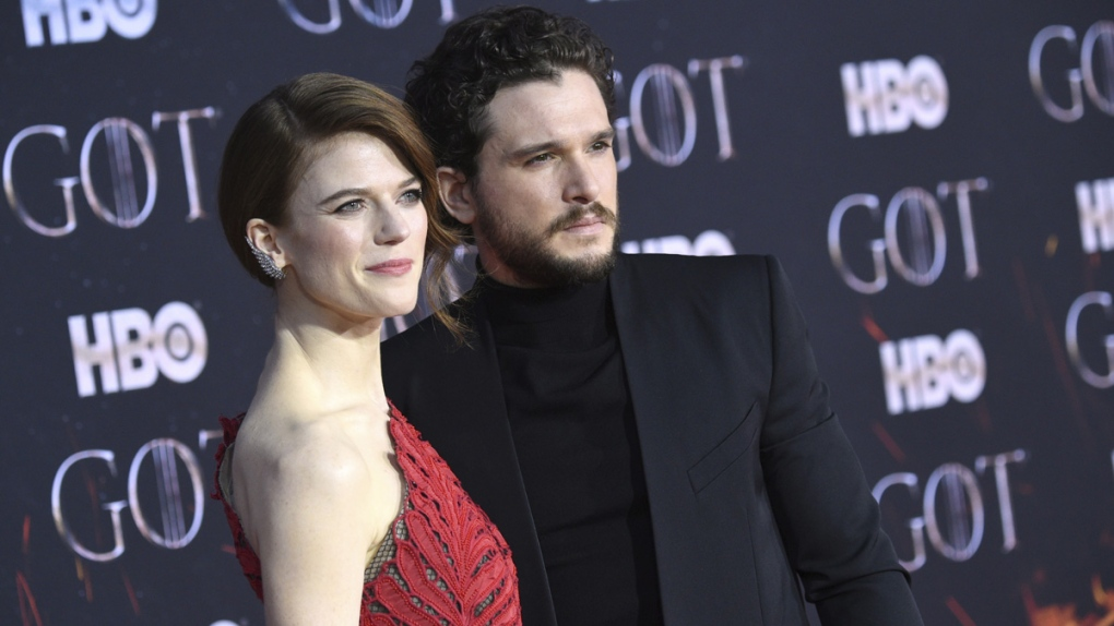 Rose Leslie, left, and Kit Harington