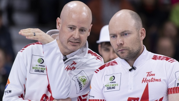 Koe beats Shuster but falls to Mouat at world men's curling