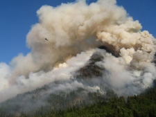 A 150-hectare blaze is burning out of control near Bella Coola. August 3, 2009.