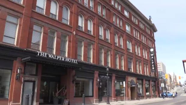 The Walper Hotel seen from Queen Street South