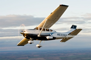 A Cessna 206, which is a single-engine aircraft, is seen in an undated image. (Cessna Aircraft Company)