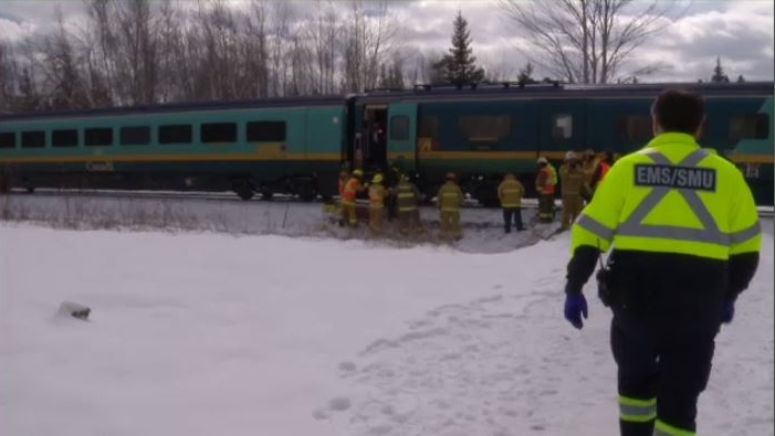 Via train derails near Moncton