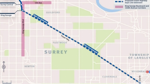 Surrey-to-Langley SkyTrain plan takes shape