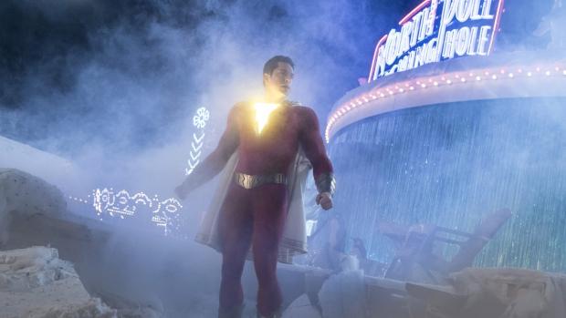 Zachary Levi in a scene from 'Shazam!' (Steve Wilkie / Warner Bros. Entertainment via AP)