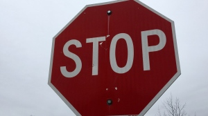 A stop sign is pictured in this file photo.