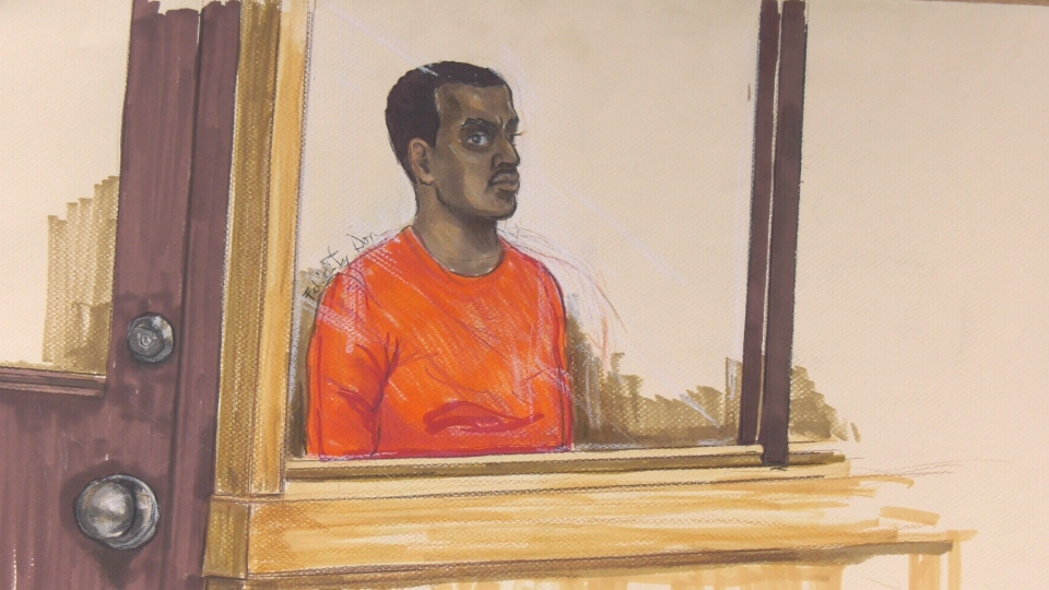 Nasradin Ali is seen in this court sketch from April 2019.