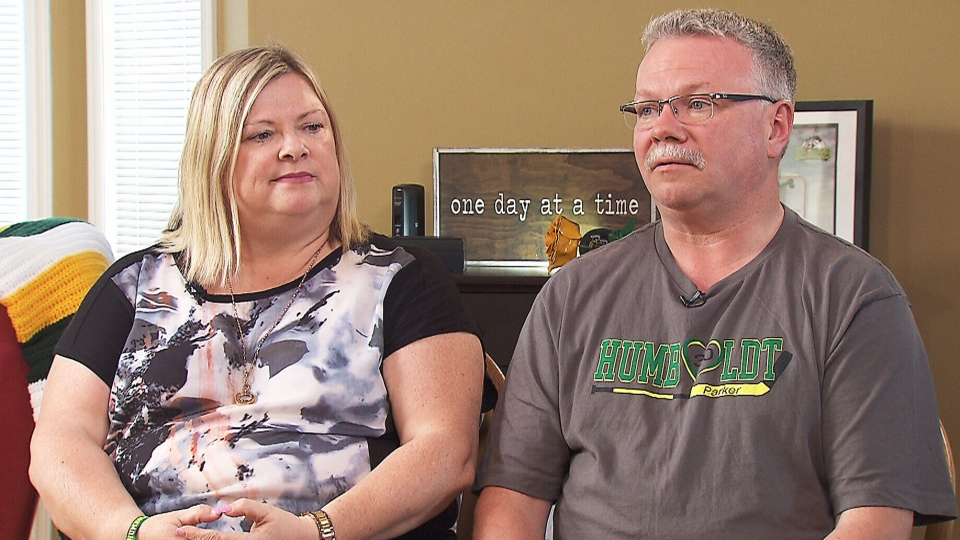 Rhonda Clarke-Tobin and Ed Tobin reflect on the death of their son, Parker Tobin, 18, who was killed in the Humboldt Broncos bus crash last year.