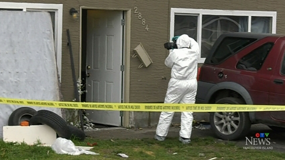 West Shore RCMP were called to this residence around 12:30 a.m. in the 2800-block of Jacklin Road. (CTV Vancouver Island)