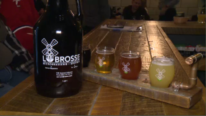 Labrosse Brewery has 42 varieties of beer. There are always 10 on tap, including owner Troy Olynyk's favourite - the New England IPA. (CTV Montreal)