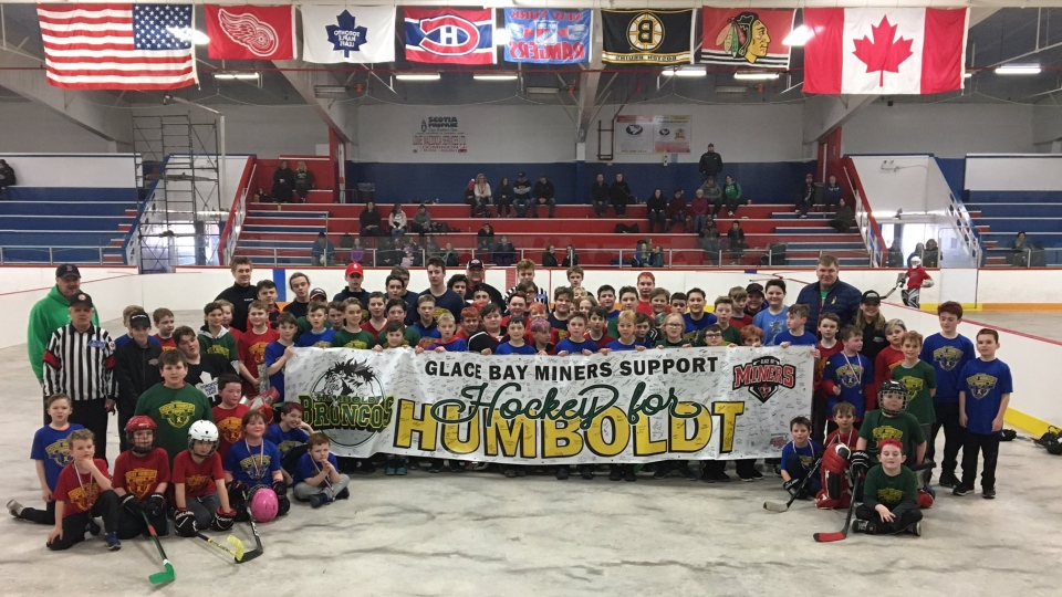 A banner was signed by 150 kids that participated in the tournament on Saturday with plans to send it to the Humboldt Minor Hockey Association, along with any cash donations received. Last year, the tournament raised more than $2,500.