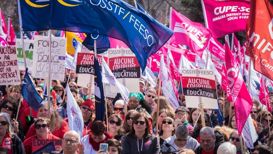 Teacher's rally