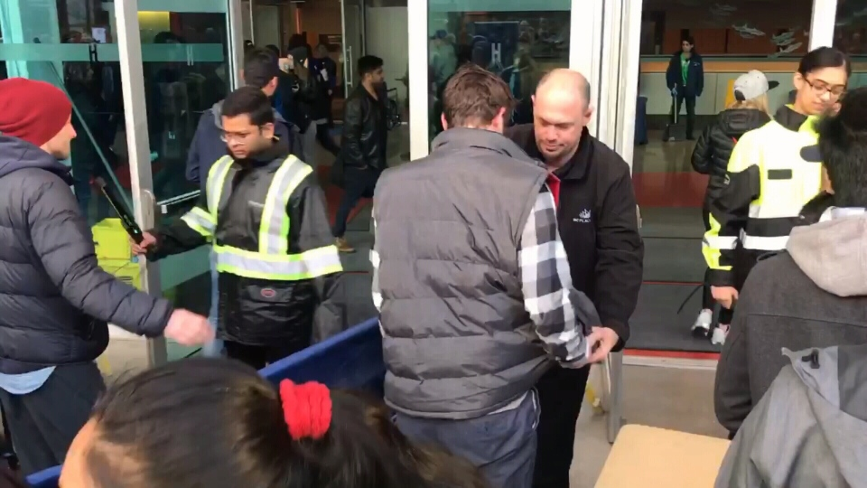 Security staff used handheld metal detectors for the first time at BC Place.