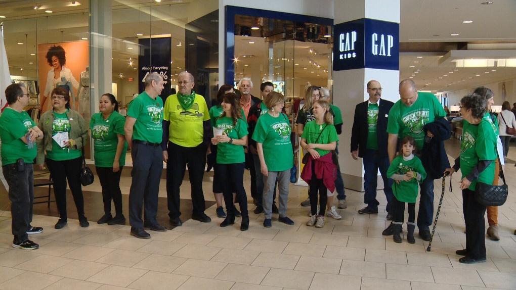 Green Shirt Day Kingsway Mall