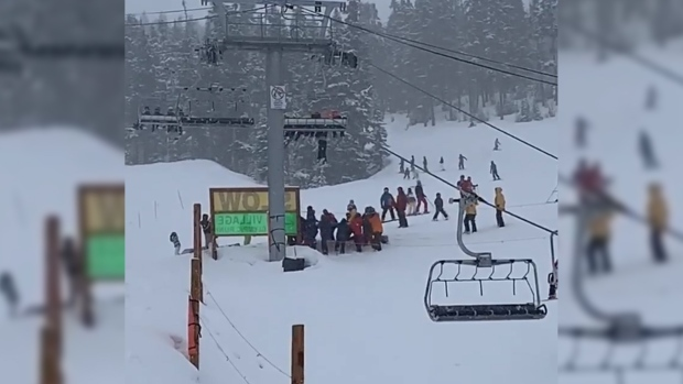 Caught on cam: 70-year-old skier drops from B.C. chairlift