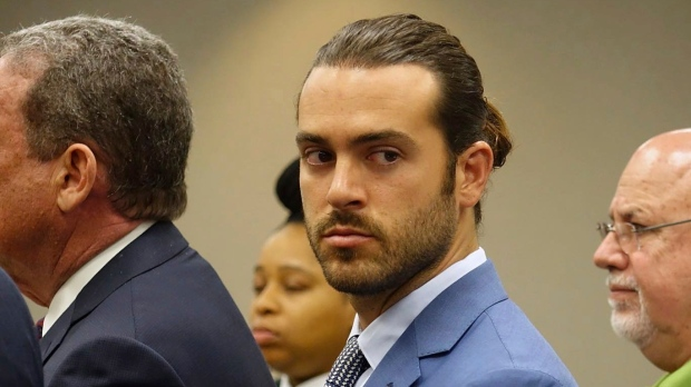Pablo Lyle appears in court on Monday, April 8, 2019. (David Ovalle/Miami Herald via AP)