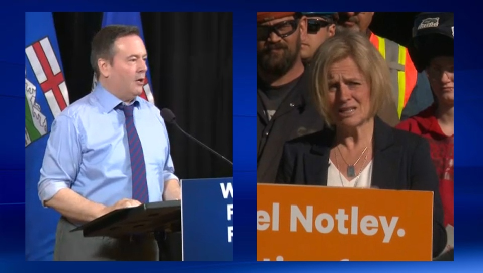 Jason Kenney and Rachel Notley - April 8, 2019