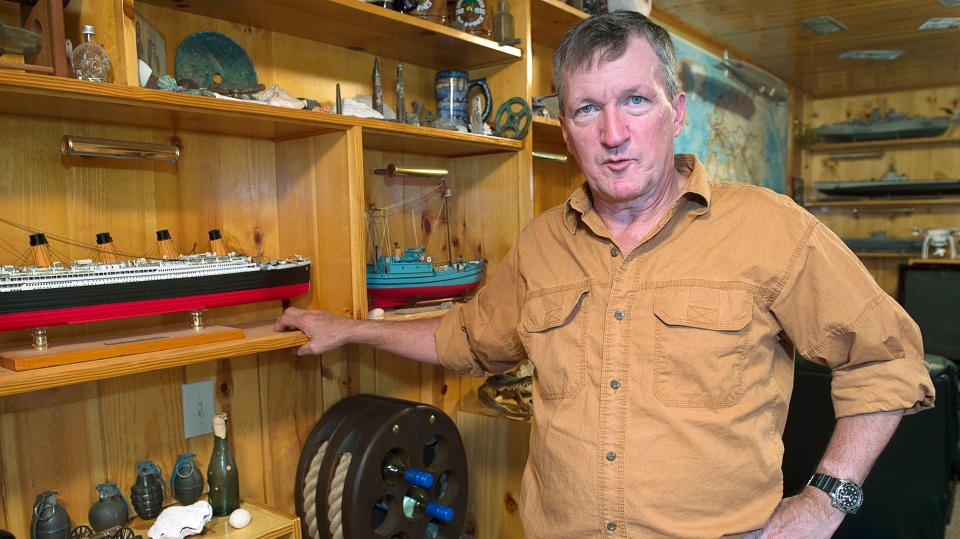 Duane Dauphinee, an underwater archaeologist and treasure salvager, reflects on the state of undersea treasure recovery at home in Williamswood, N.S. on Monday, April 1, 2019. (THE CANADIAN PRESS/Andrew Vaughan)