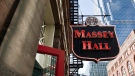 The exterior of Massey Hall as seen at the Massey Hall revitalization Phase 1 Celebration in Toronto, Monday, February 23, 2015. THE CANADIAN PRESS/Galit Rodan