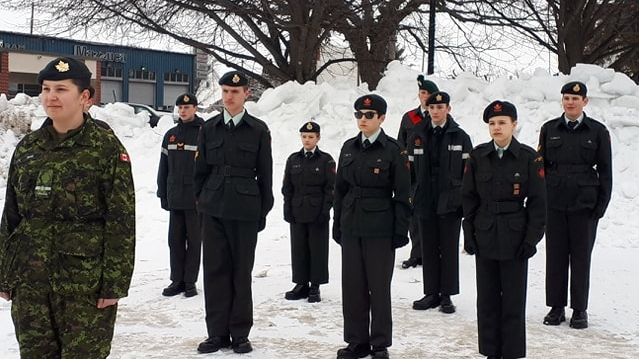 Capreol cadets stand vigil at cenotaph