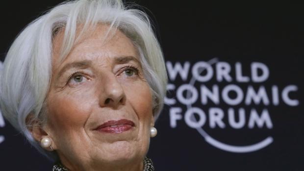 Christine Lagarde in Davos