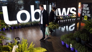 A man leaves a Loblaws store in Toronto on Thursday, May 3, 2018. (THE CANADIAN PRESS / Nathan Denette)
