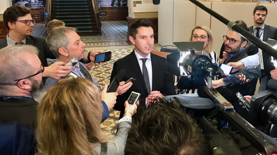 Liberal MNA Andre Fortin told reporters on Tuesday April 9, 2019 that he will not run for leadership of the party (CTV Montreal/Maya Johnson)