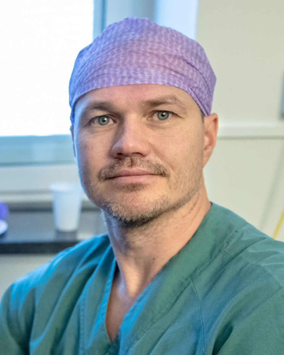 Niclas Kvarnström, transplant surgeon in charge of the robot-assisted womb transplant project at Sahlgrenska University Hospital at the University of Gothenburg in Sweden,. (University of Gothenburg)