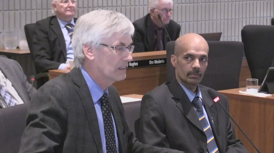 Seen here, Bradford mayor Rob Keffer at Simcoe County Council on April 9, 2019