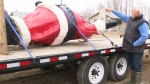 10-foot Santa rescued in P.A.