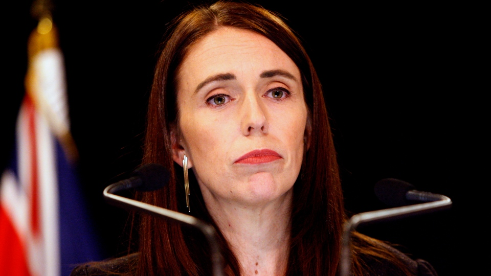 FILE - In this March 25, 2019, file photo, New Zealand Prime Minister Jacinda Ardern addresses a press conference in Wellington, New Zealand. (AP Photo/Nick Perry, File)